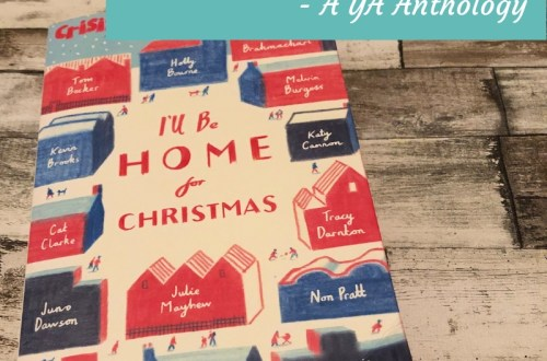 I'll Be Home For Christmas on a wood backdrop with title in banner
