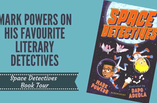Space detectives cover on blog title background
