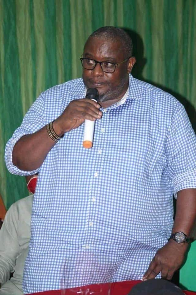 Nsit Ibom Lawmaker, Hon. Ifiok Udoh making a speech at the occasion