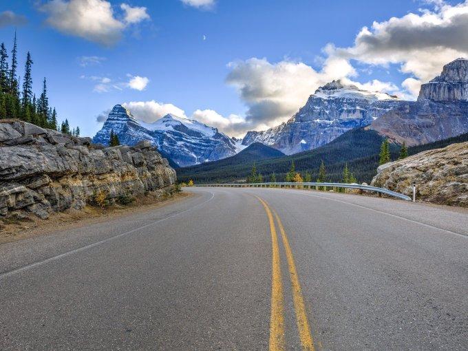 Edmonton via Jasper or Calgary via Banff