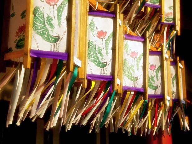 Lanterns from Obon Festival in Japan