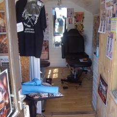 Modern Wing Chair Glider Cover Jaggy Paintbrush Tattoo, Workshop/studio From Garden, Girvan, Ayrshire Owned By Dave Sandilands ...