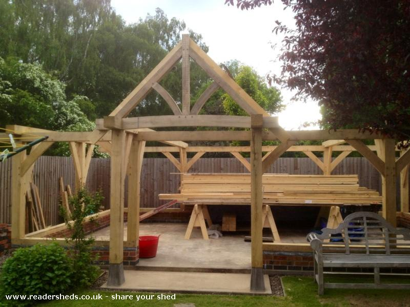 Oak Framed Shed Unexpected From Garden Owned By Rob Tugby
