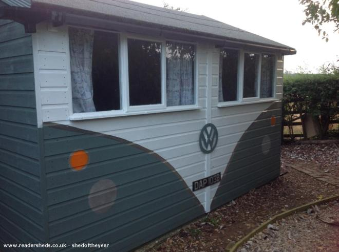 Pear Tree Weddings HQ - Jo - VW Shed 'office' at the bottom of the garden