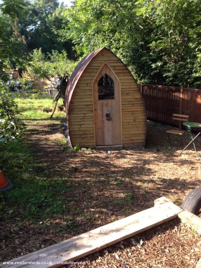 The Snug - Jan Watts - The Snug is in our garden. Part of the Parky Thing (named that by Amy, one of our 9 grandchildren)