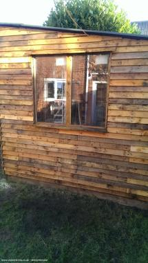 Pallet Shed Workshop Studio In Garden Owned