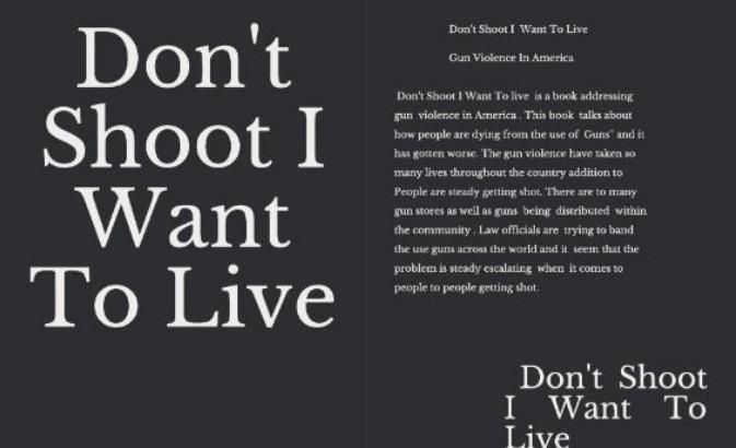 Don't Shoot I Want To Live | Tyshondra Barnes