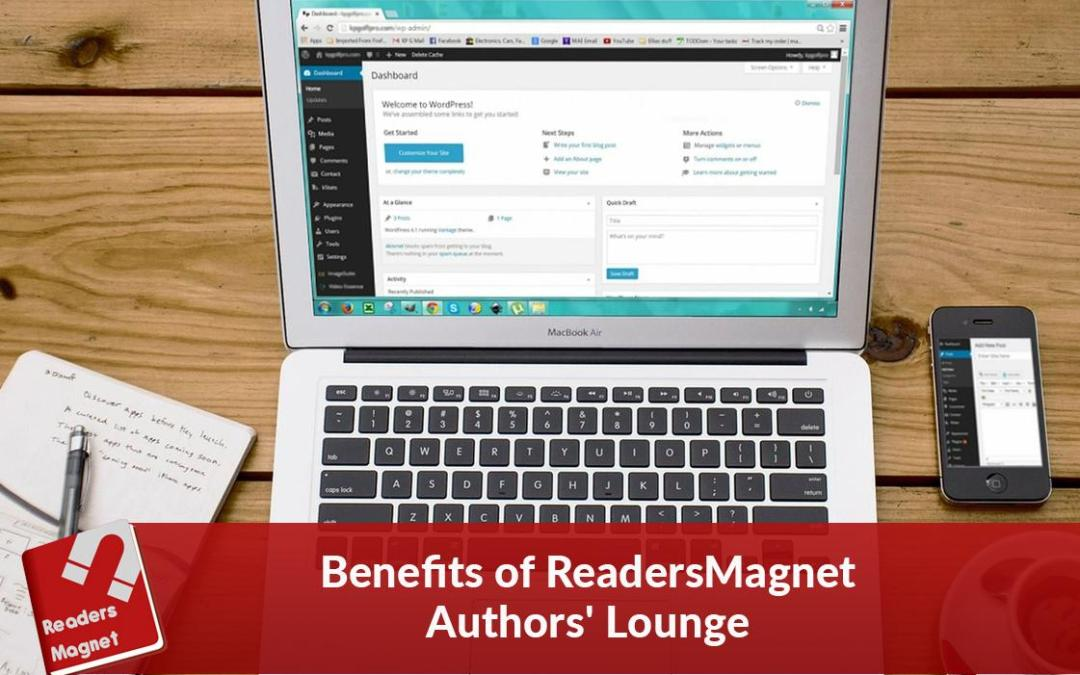 Benefits of ReadersMagnet Authors' Lounge