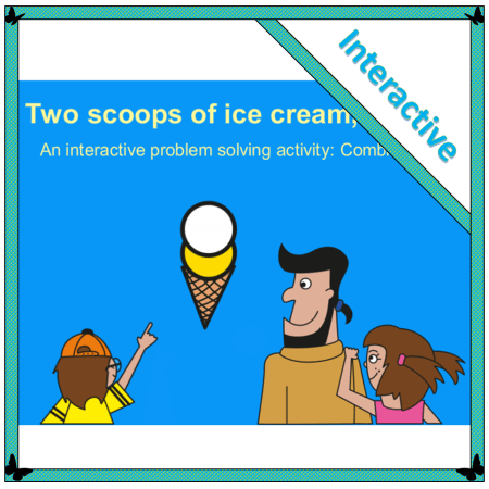 an interactive problem solving activity to use on the interactive whiteboard