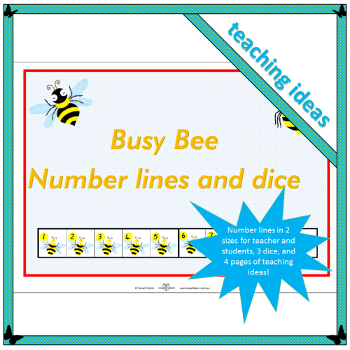 Busy Bee Number lines and dice