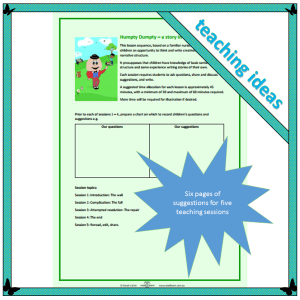 Teaching writing in lower primary classroom using Humpty Dumpty as stimulus