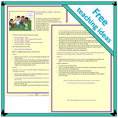 The Clever Children – printable – How to use this resource