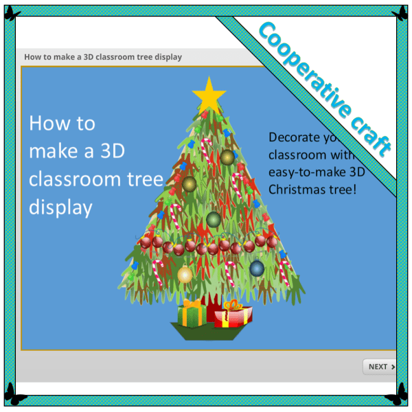 3D classroom tree display