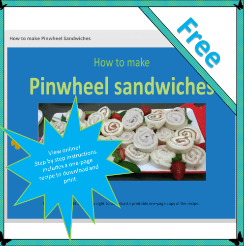 How to make Pinwheel Sandwiches