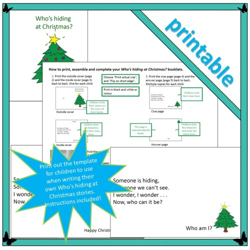 Who's hiding at Christmas – template