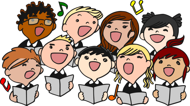 happy children singing
