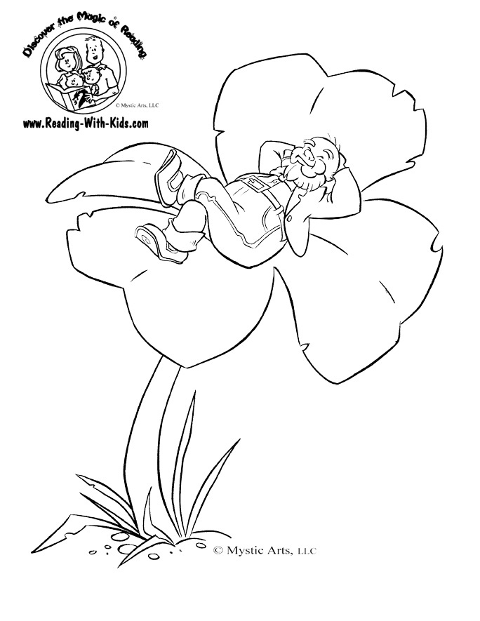 luther vandross: Leprechaun And Shamrock Coloring Pages