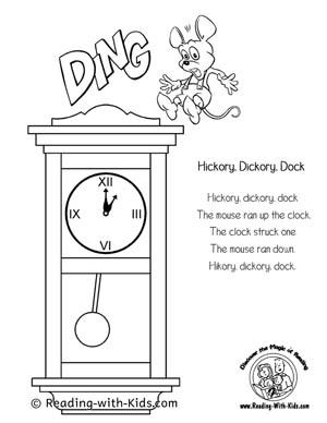 nursery rhymes coloring pages # 4