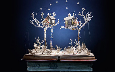 The amazing art of book-cut sculpture
