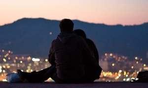 night-we-said-yes-couple-sunset