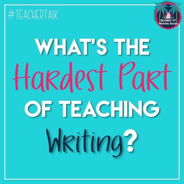 I love teaching writing but its not an easy jobhellip