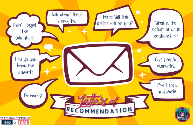 In this blog post from Reading and Writing Haven, read about how to write a recommendation letter for students. Tips and tricks for teachers. #letterofrecommendation #recommendationletter