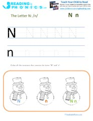 Fun Activities Rhymes And Worksheets For Letter N Sound