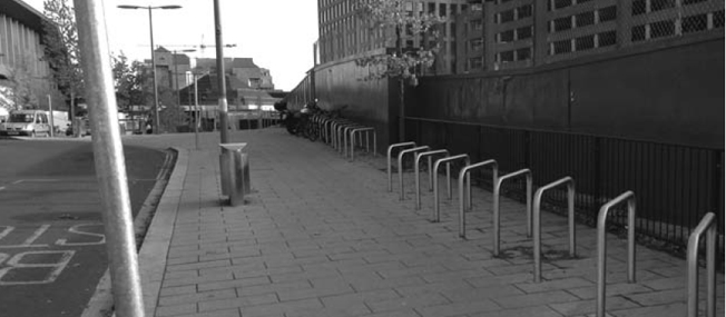Bike park after the crime