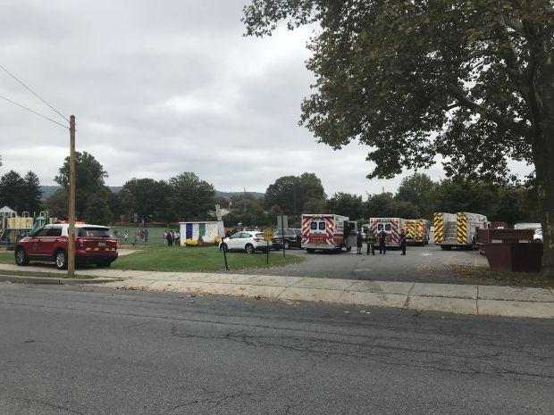 Ambulances outside Glenside Elementary School