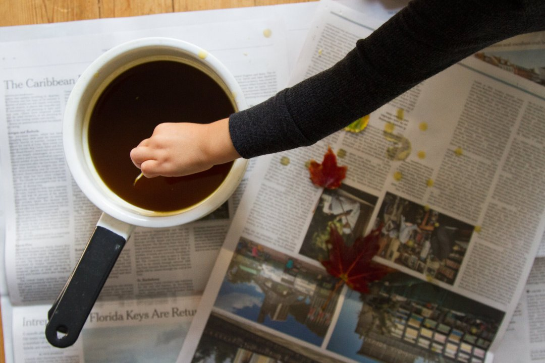 beeswax dipped leaves | reading my tea leaves