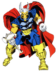 Beta Ray Bill (and friend)