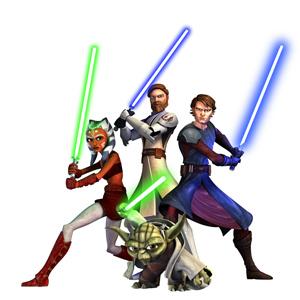 Ahsoka, Obi-Wan, Anakin & Yoda