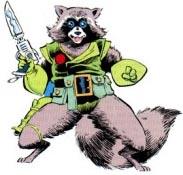 Rocket Raccoon, before he was cool