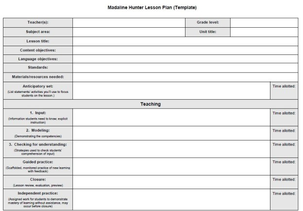 Lesson Plan Template | Reading Pioneers Home