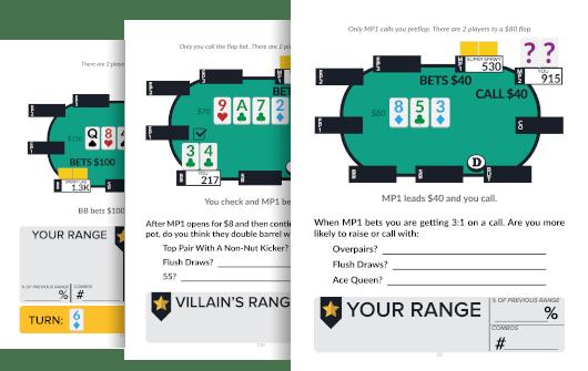 SplitSuit Live Poker Workbook samples
