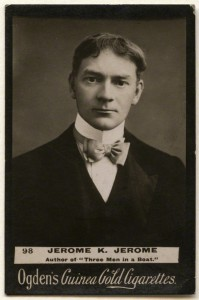 Jerome Klapka Jerome, published by Ogden's. Cigarette card, published circa 1894-1907. 2 1/4 in. x 1 3/8 in. (56 mm x 36 mm) overall. Given by Terence Pepper, 2012. Photographs Collection NPG x136534