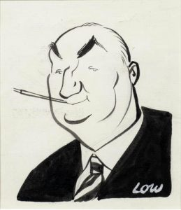 Caricature of Edgar Wallace by Low