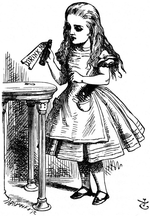 Alice in Wonderland, Illustration by John Tenniel