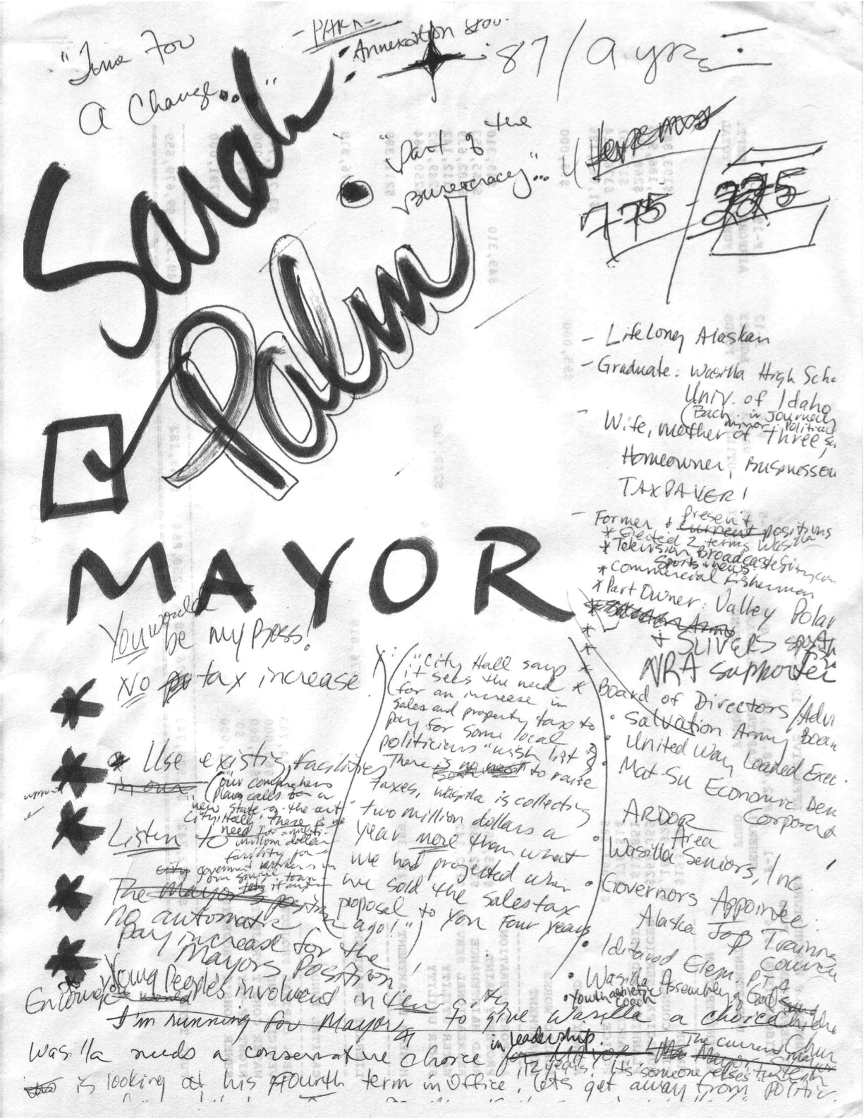 What The Palin Doodle Document Suggests About How She Got