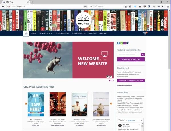 UBC Press' new website