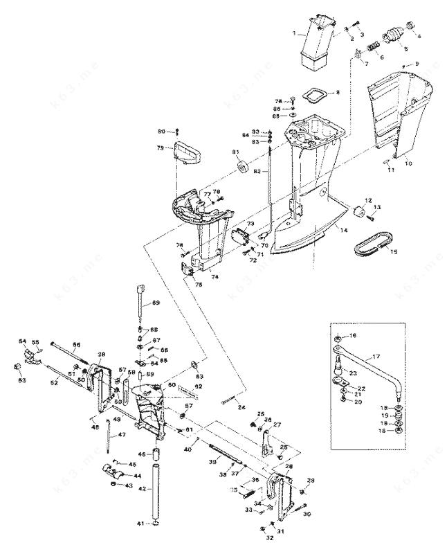 Chrysler 75 1984, Motor Leg 756H2J, 756B2J, 756H3K, 756B3K