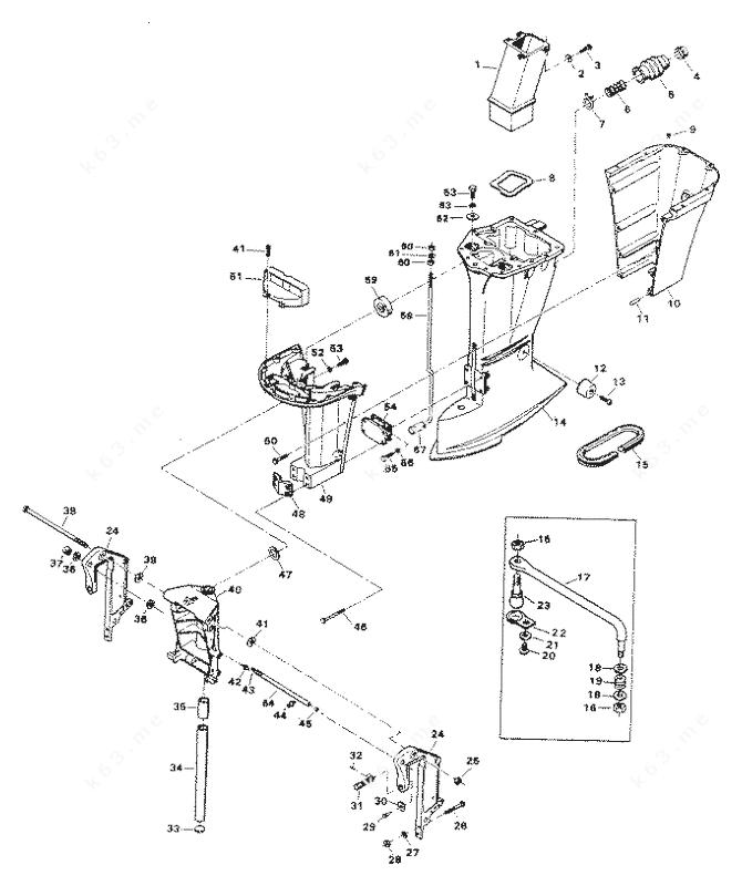 Chrysler 75 1983, Motor Leg 758H2E, 758B2E, 758H3F, 758B3F