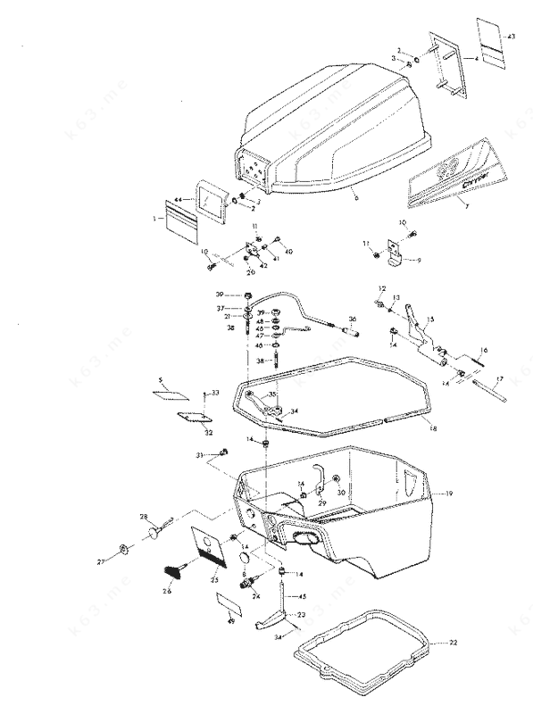 Chrysler 9.9 1979, Engine Cover and Support Plate Manual