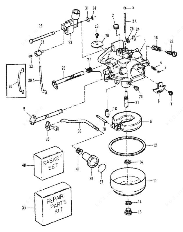 Mercury Force 9.9 H.P. 1984-1995, Carburetor 9.9 88A/92B