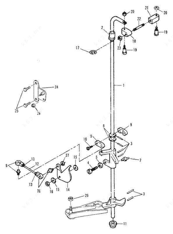 Mercury Force 150 H.P. 1989-1992, Throttle Linkage