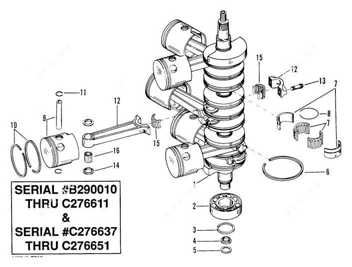 Mercury Hi-Performance Merc/Mar 2.4l EFI, Crankshaft