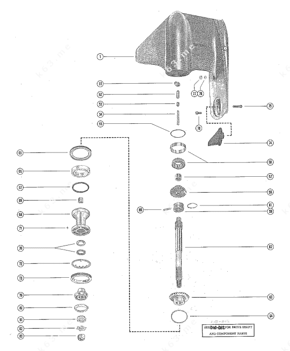 Mercury/Mariner 1500, Gear Housing Assembly, Complete Page