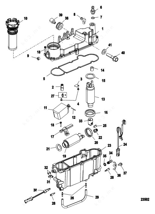 Mercury/Mariner 225 DFI 3.0l, Vapor Separator Components