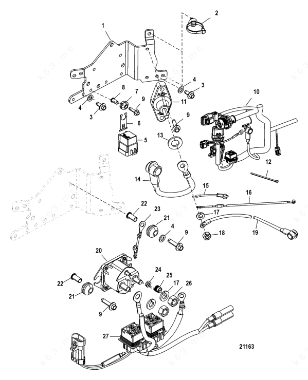 Mercury/Mariner 225 DFI 3.0l, Electrical Plate Components