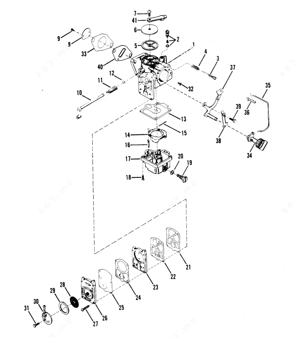 1981 Mercury Outboard Parts Diagram 25 Hp. Mercury. Auto